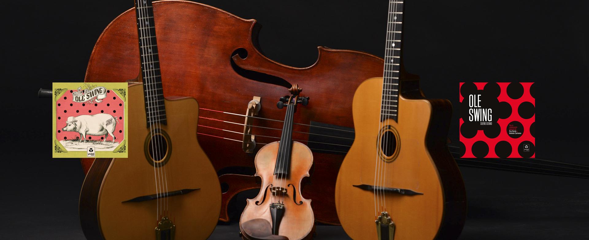 Ole Swing imagen instrumentos y discos